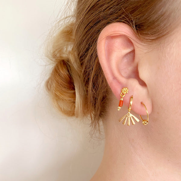 ROSE EARRINGS - GOLD