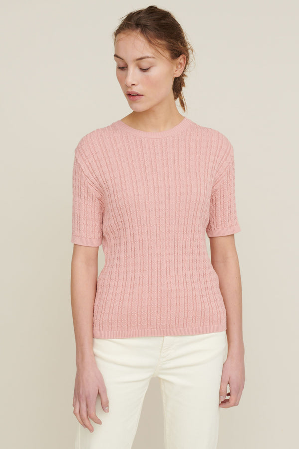 ALINE SS SWEATER - ROSE TAN
