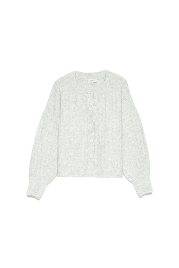 CAMDEN CARDIGAN - LIGHT GREY
