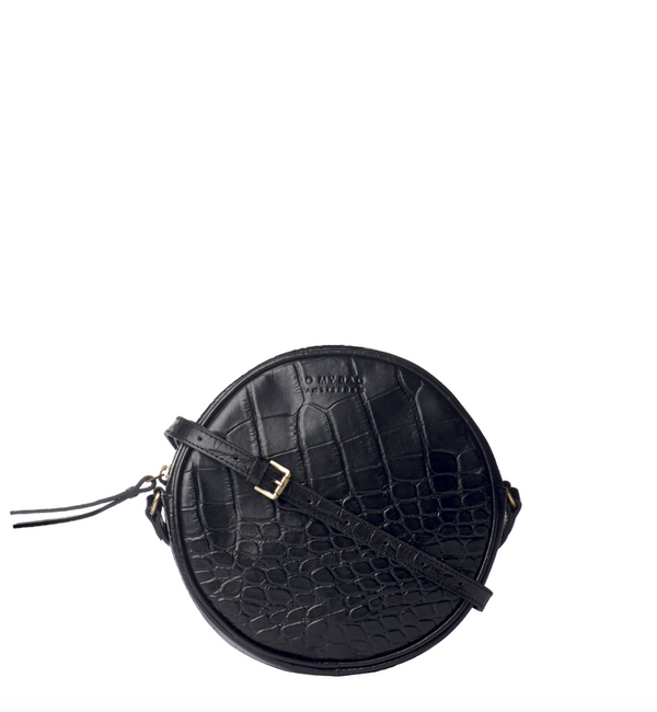 LUNA BAG - BLACK CROCO