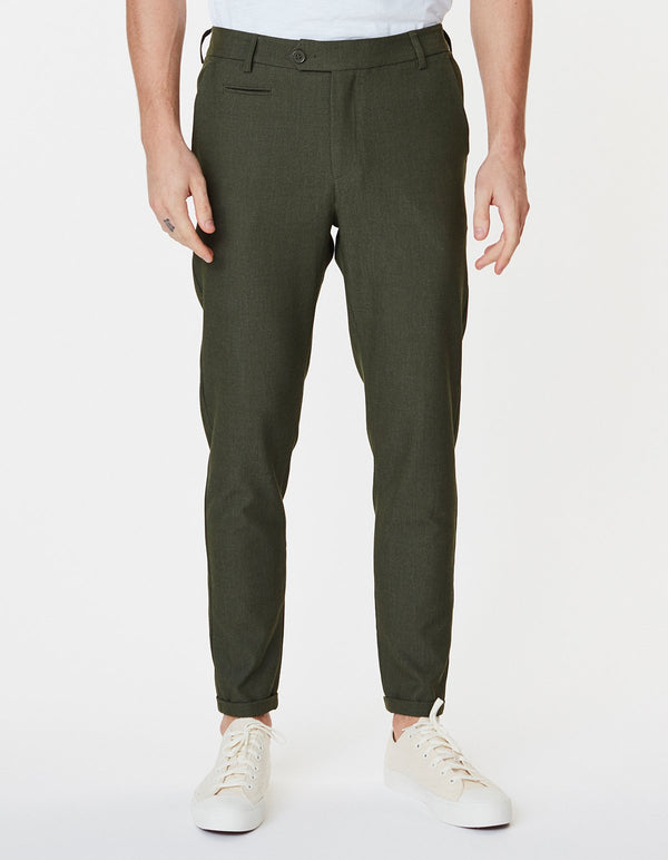 COMO SUIT PANTS - DARK GREEN