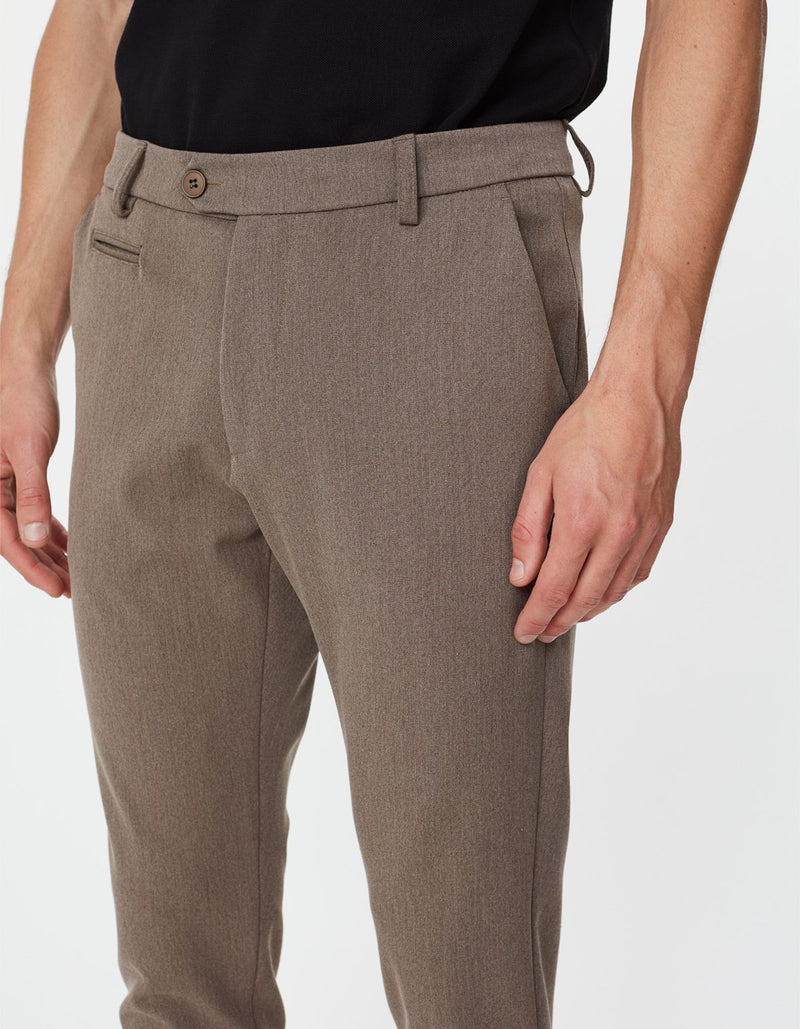 COMO SUIT PANTS - BROWN MELANGE