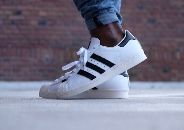 SUPERSTAR 80s - WHITE BLACK CHALK