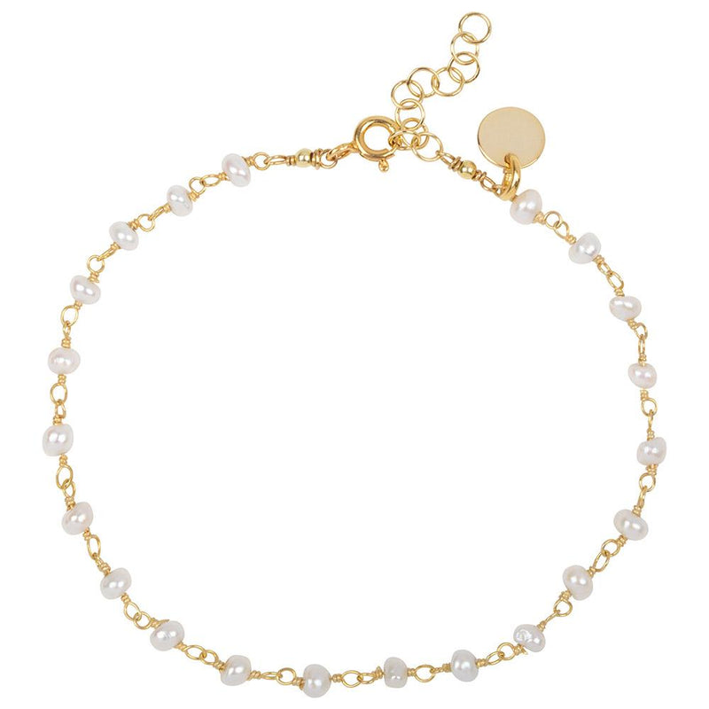 DAINTY PEARL BRACELET - GOLD PLATED