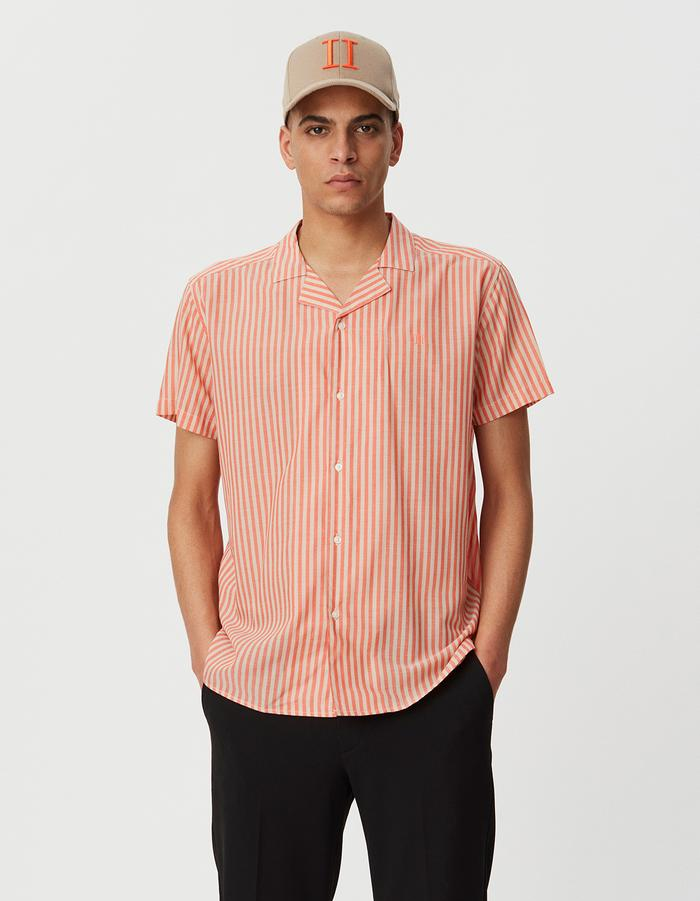 LUCCA COOL MAX SHIRT - FIESTA RED/DARK SAND