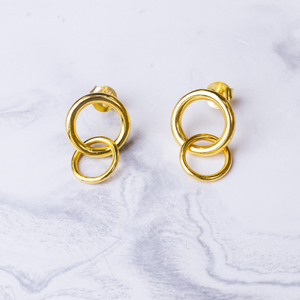 2-RINGS EARRINGS