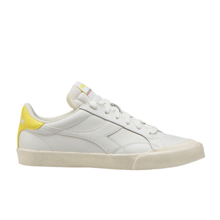 MELODY LEATHER DIRTY  SNEAKER - WHITE / LIME LIGHT