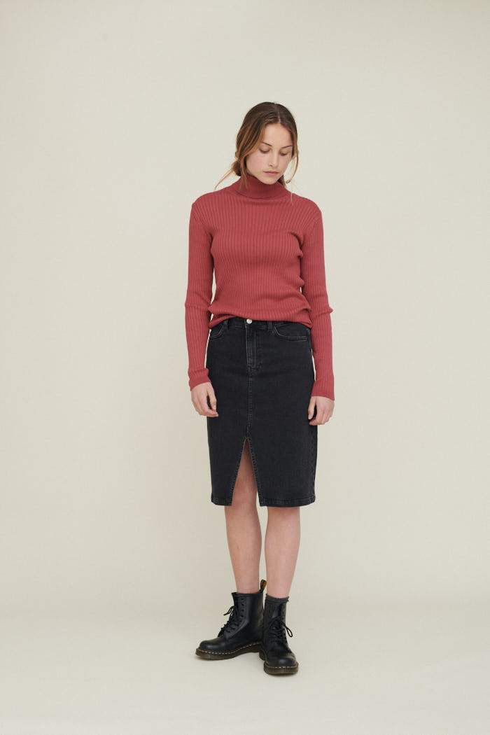ELLEN SKIRT - WASHED BLACK