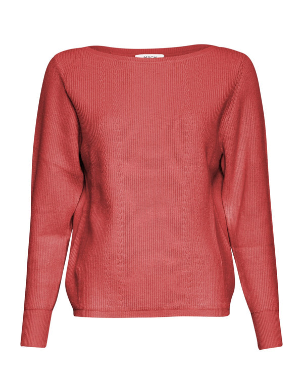 ENNA JILLI BOATNECK PULLOVER - ROSE OF SHARON