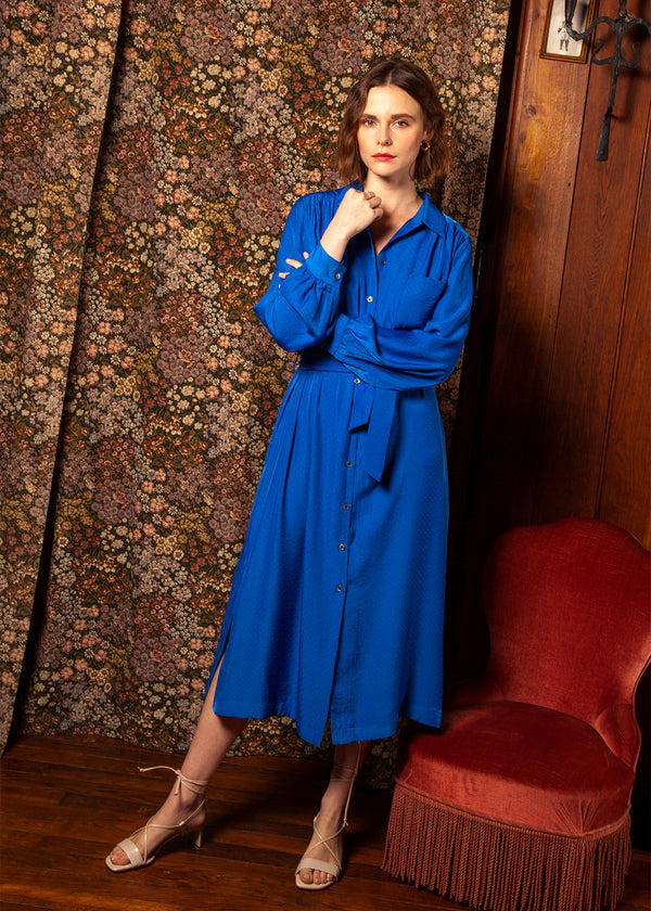 ABIDA DRESS - BLUE