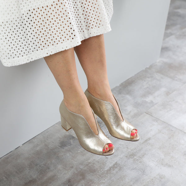 FINK HEELS NEW  - CHAMPAGNE