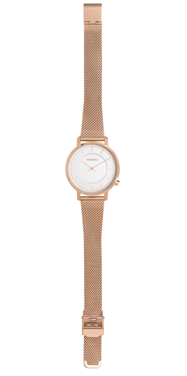 HARLOW WATCH - ROSE GOLD MESH