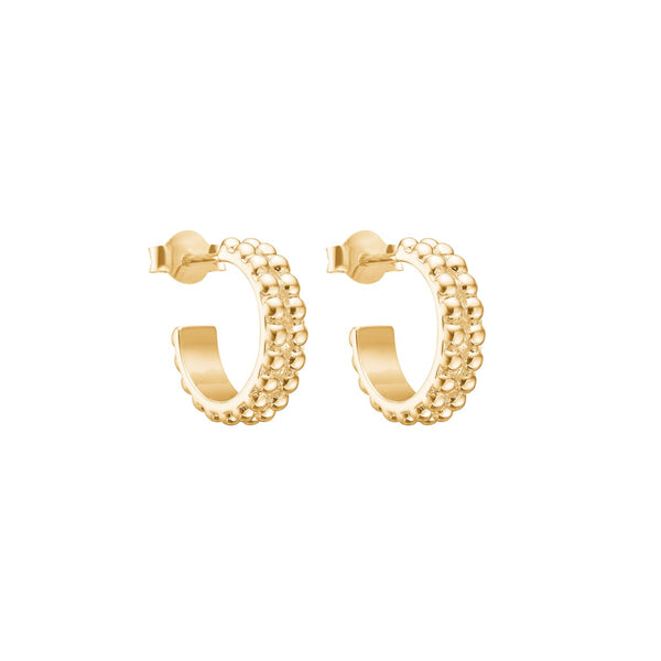 BUBBLE LOOP HOOPS - GOLD