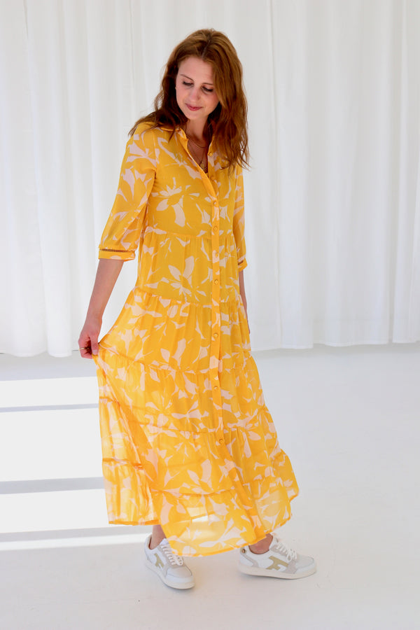 ANVERS DRESS - MOUTARDE / YELLOW