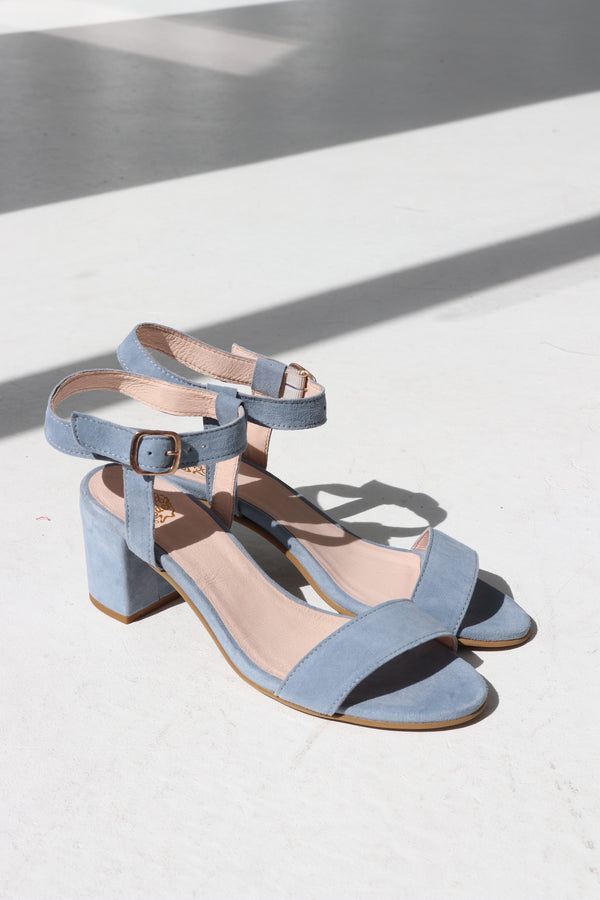 CASEY HEEL - LIGHT BLUE