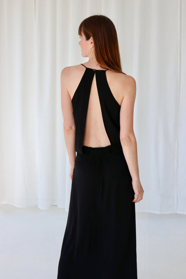 ANNA LONG DRESS - BLACK