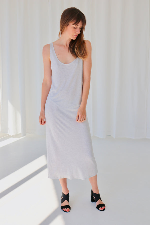 PARKER LONG DRESS - VANILLA MEL