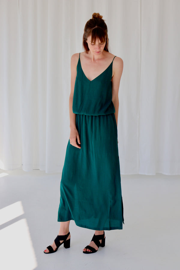 MAEVA LONG DRESS - SOHO GREEN