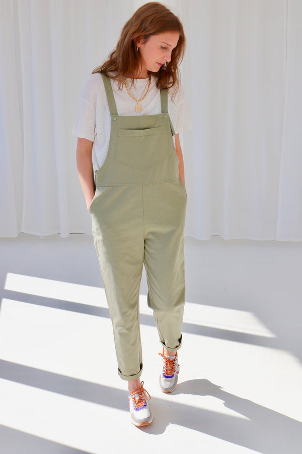 MAILA DUNGAREES - GREEN PISTACHE