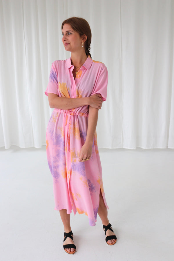 CELLO PRINT DRESS - SUMMER TIE DYE