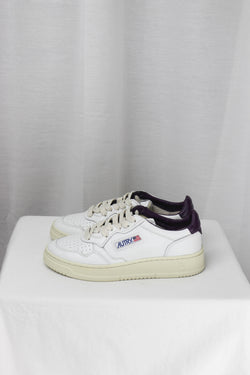 AUTRY AULM LN19 LOW MAN - LEAT/LEAT WHT/PURPLE