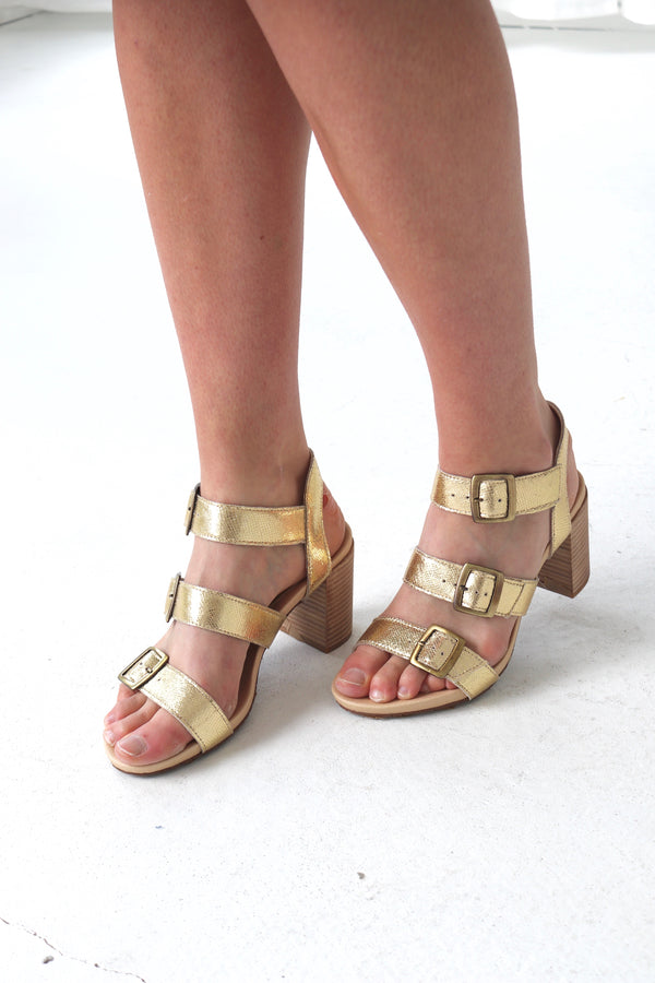 DICE HEEL  - GOLD
