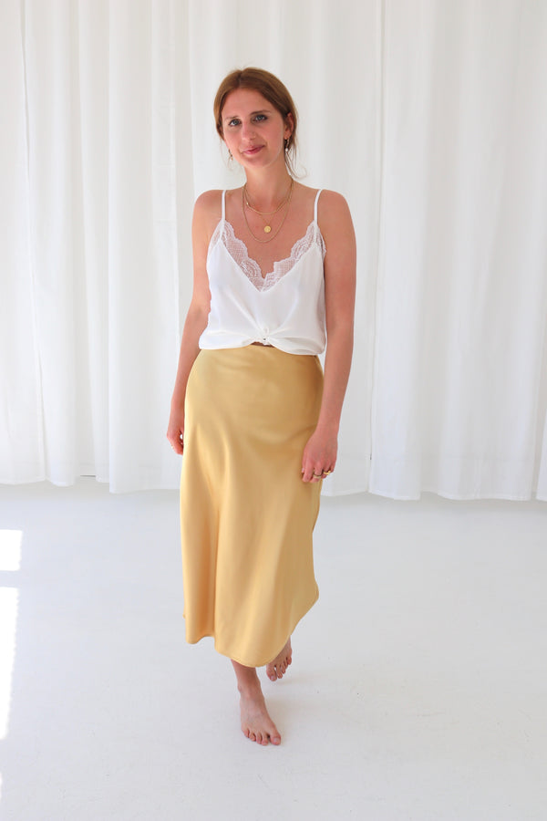 RYLEE SKIRT - MISTY YELLOW