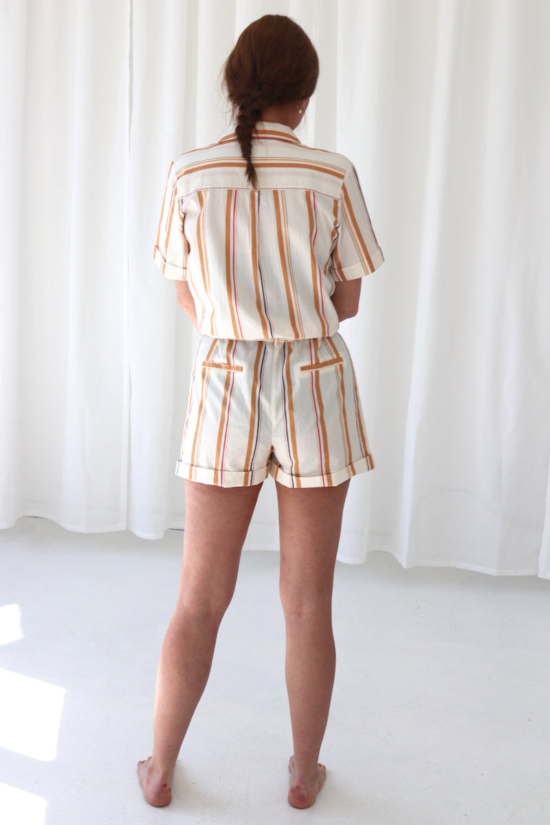 STRIPED PLAYSUIT - MULTICOLOR