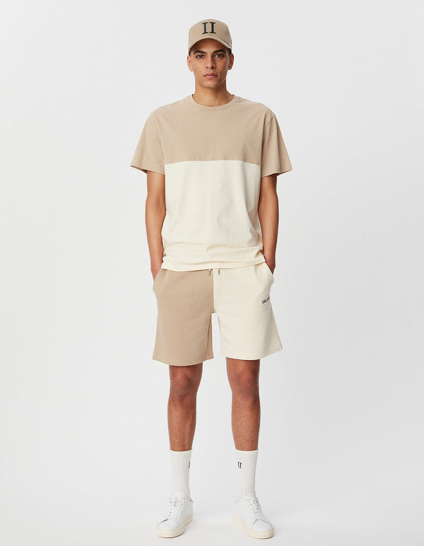 CAPRI COLORBLOCK T-SHIRT - DARK SAND/IVORY