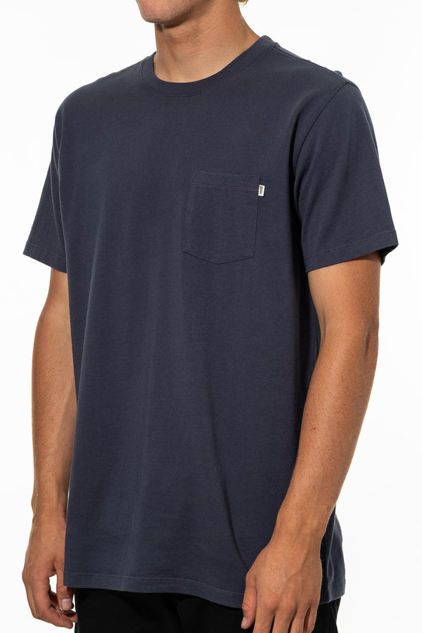 BASE TEE  T-SHIRT - BALTIC BLUE