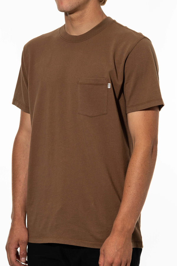 BASE TEE  T-SHIRT - BARK