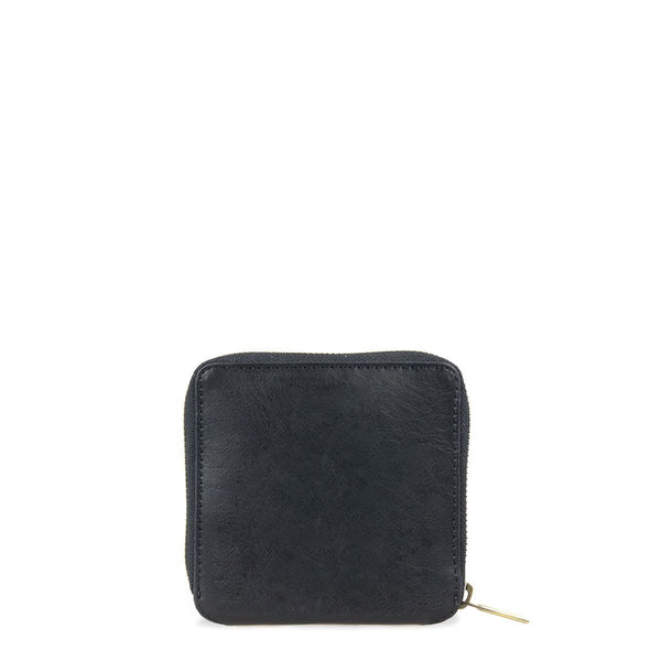 SONNY SQUARE WALLET - BLACK STROMBOLI LEATHER