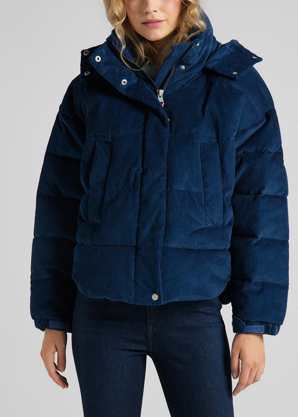PUFFER JACKET - WASHED BLUE