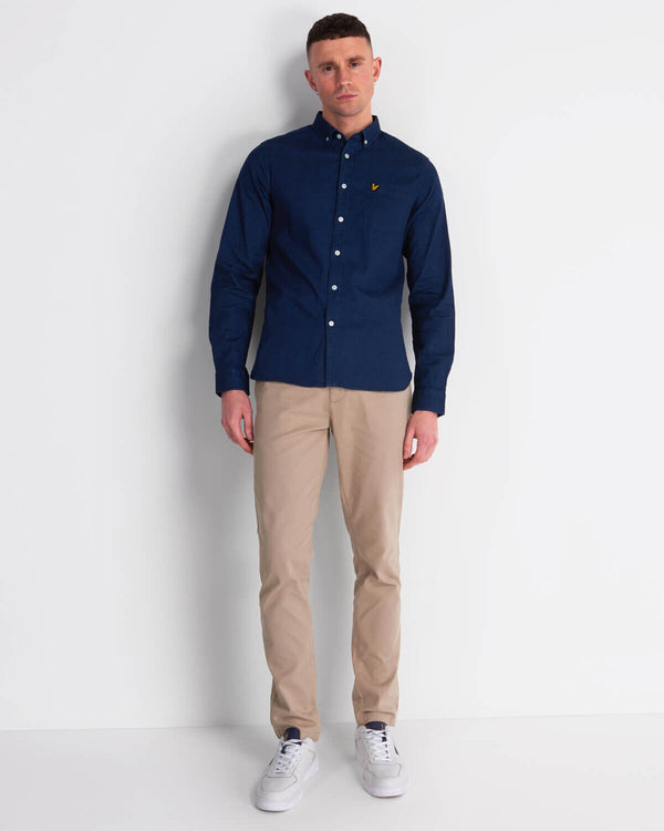 INDIGO LONG SLEEVE SHIRT - INDIGO BLUE