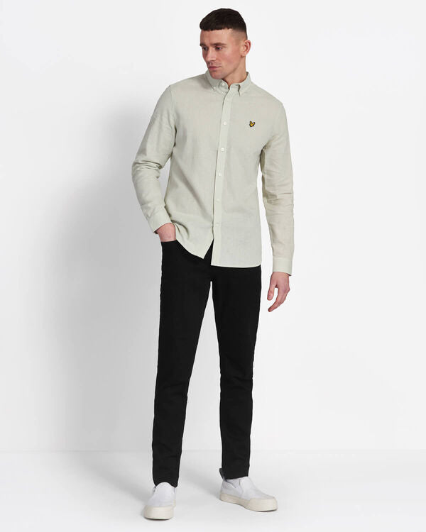 COTTON LINEN SHIRT - CLOUD MINT