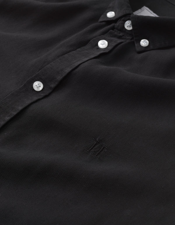 LAURENT TENCEL DOBBY SHIRT - BLACK