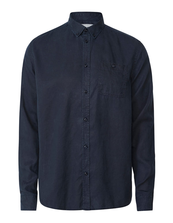 LAUREN TENCEL SHIRT - DARK NAVY