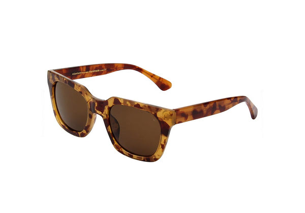 NANCY  SUNGLASSES - LIGHT BROWN TRANSPARENT