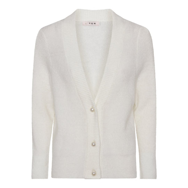 OMY KNIT CARDIGAN - OFF WHITE