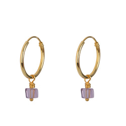SMALL LOOPER EARING - GOLD & LILA
