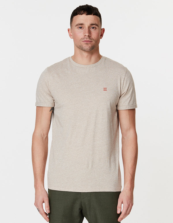 NORREGAARD T-SHIRT - LIGHT BROWN / ORANGE