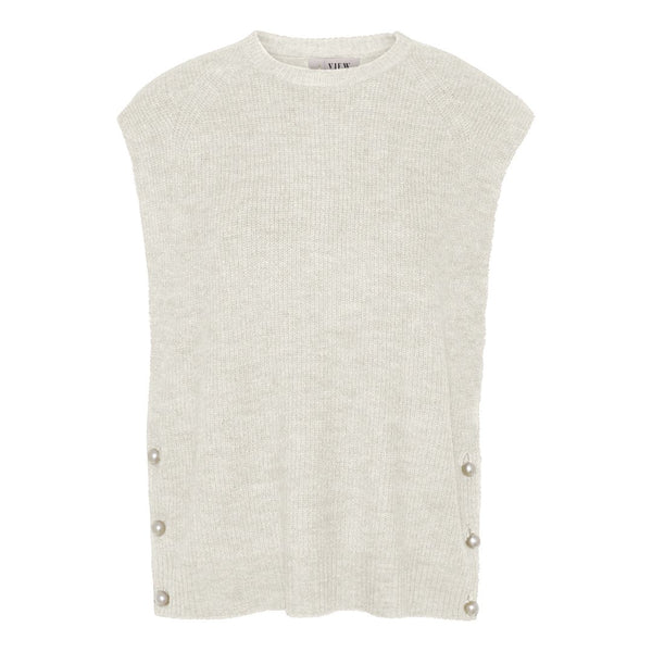 OZILLA KNIT VEST - OFF WHITE
