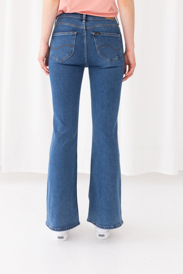 BREESE JEANS PALAZZO - MID ELY