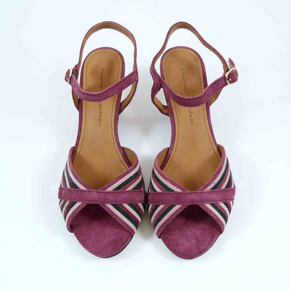 KRISTINE-SUEDE-PURPLE RED MUL
