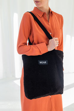 TEDDY TOTE BAG - BLACK