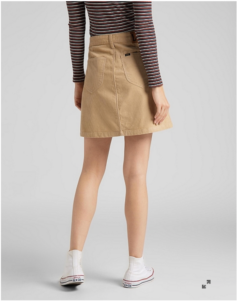 A LINE ZIP SKIRT - CORNSTALK
