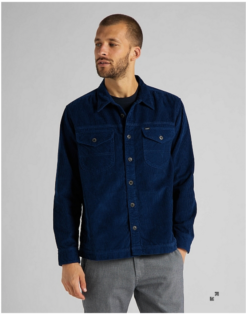 LOCO PATCH OVERSHIRT - WASHED BLUE