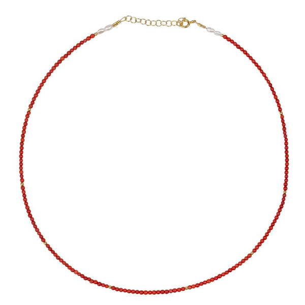AMELIA SHORT NECKLACE  - RED