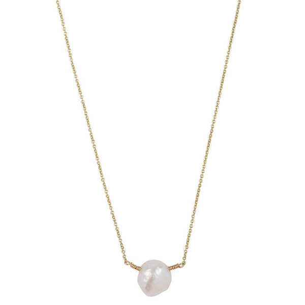 SHORTIE HEATHER BIG PEARL - NECKLACE