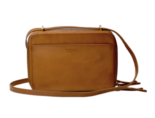 BEE'S BOX BAG CLASSIC LEATHER - COGNAC